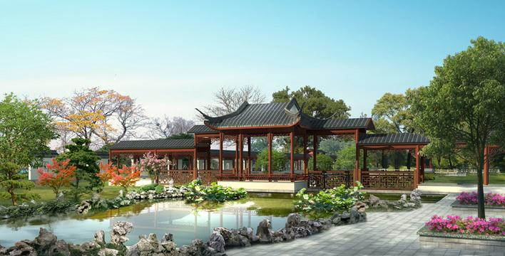 图纸 园林设计图  古典园林   典型的江南古典园林  相关专题:古典