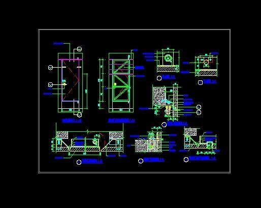 图纸 建筑结构图  经典暗藏管井门详细节点   经典暗藏管井门详细节点