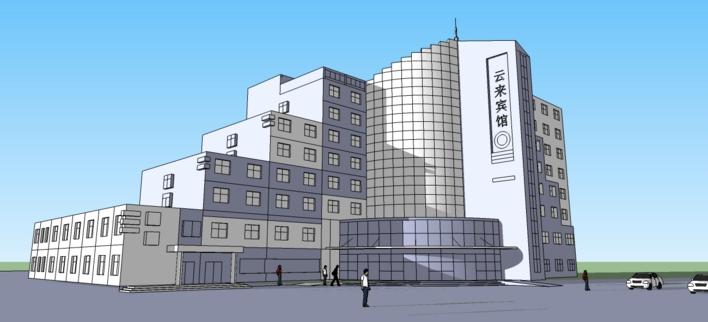 某11层框架结构宾馆建筑和结构设计施工图 上海某十层宾馆全套大金vrv
