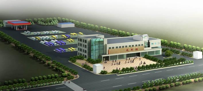 效果图汽车站设计方案汽车站绿化设计图汽车站施工图汽车站设计平面图