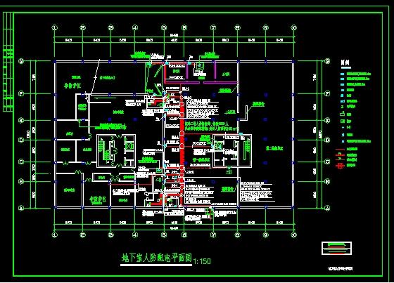 地下室人防配电平面图