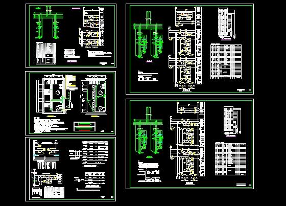 动力站建筑电气设计施工图(动力站)  商场地下消防泵房系统图   某