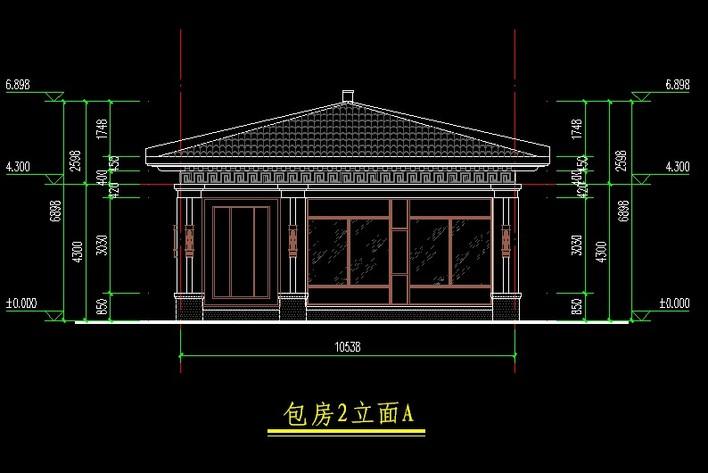 中式餐厅cad施工图(平面,立面,天花) 中式餐厅室内设计施工图cad文件.