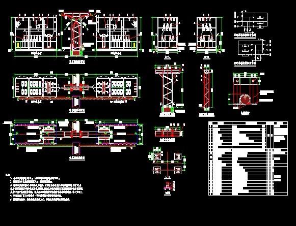 框架式电容器图纸 某变电站改造10kv电容器二次接线图  投稿网友:pan