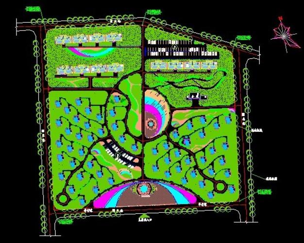 【景观设计】别墅区的景观设计图_cad图纸下载_土木