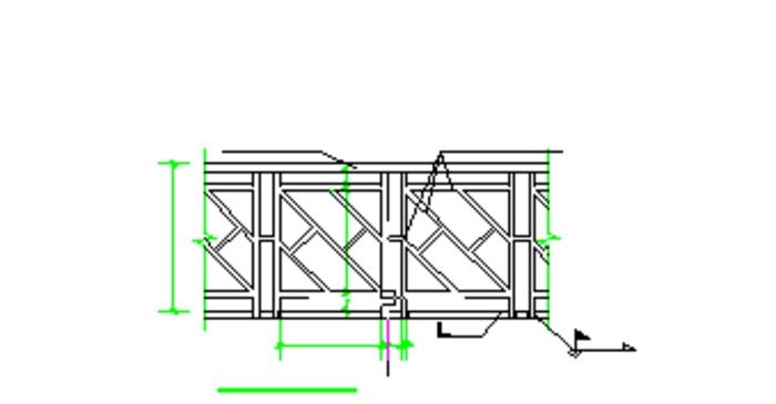 某园林景观平台,木栈道设计结构图 某景区的栈道结构图 某风景区双层