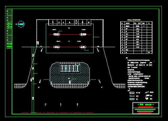 加油站总平面图 加油站cad平面图 加油站设计平面图 加油站平面图