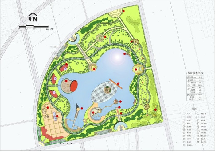 公园局部平面图_公园设计平面图线稿_装修图库