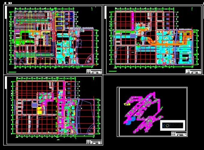 奥迪4s店城市展厅项目暖通设计图