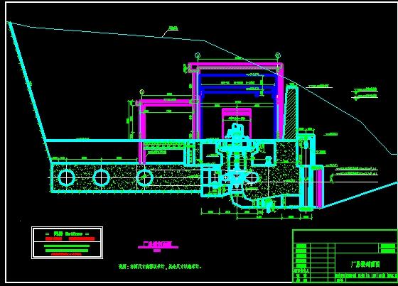 电站厂房剖面图_cad图纸下载-土木在线