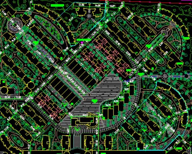 小区景观规划设计平面图