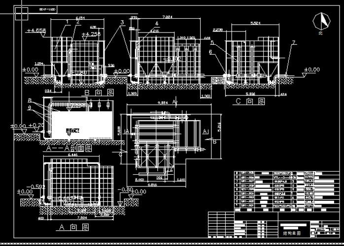 絮凝沉淀池,砂滤池,消毒池建筑结构设计图纸 穿孔旋流反应斜板沉淀池