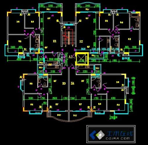 住宅平面户型-塔楼2