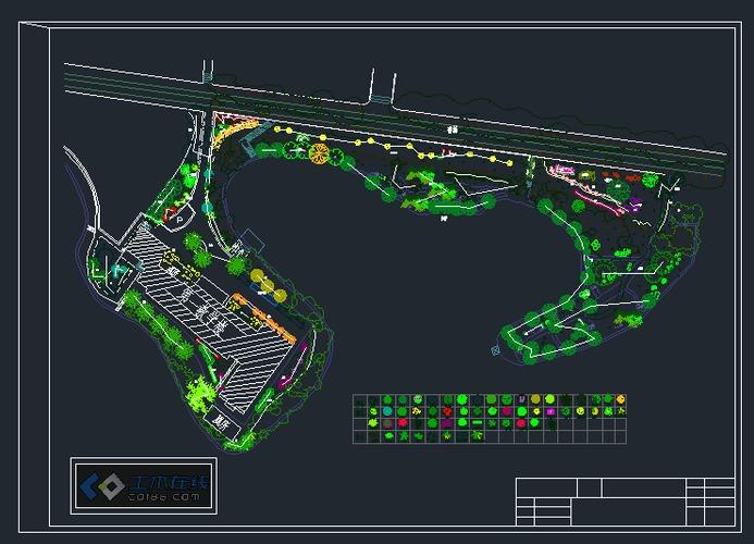 校园景观设计平面图_cad图纸下载-土木在线