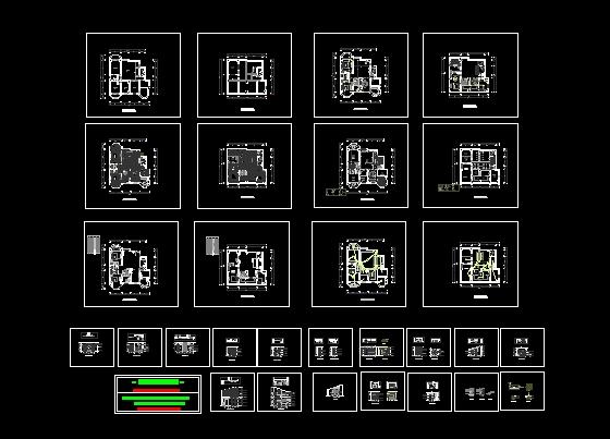 某欧式风格平层式室内装修设计图 一套完整的跃层设计(附效果图) 六层