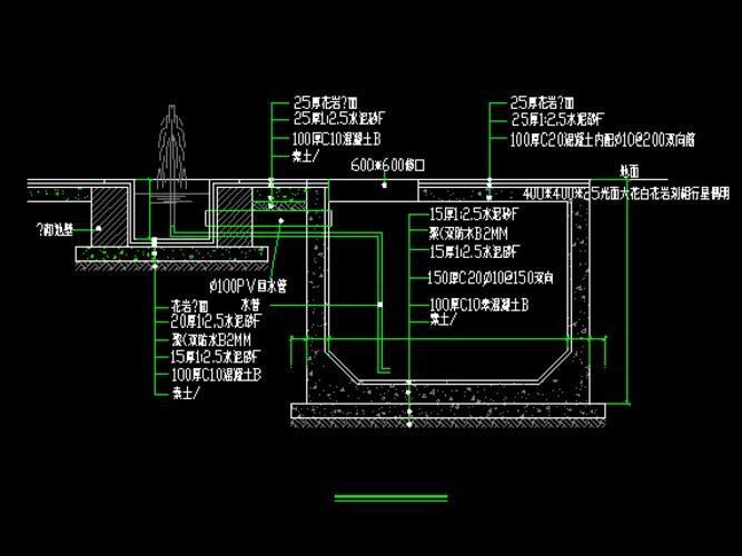 多种节点及造型大样结构构造做法详图汇总 园路,铺装,台阶,挡墙,花坛