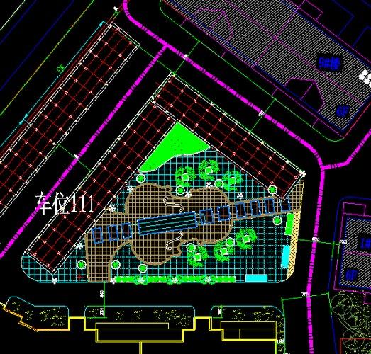 城市街头绿地三角形