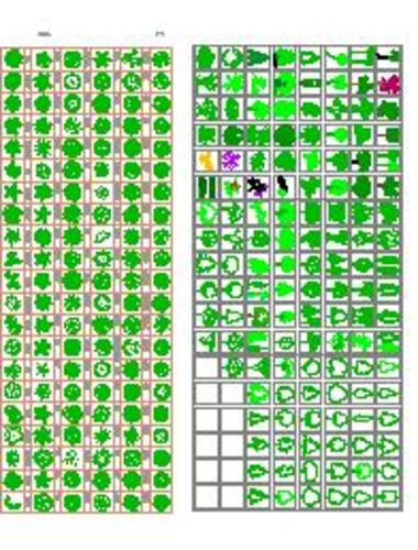 园林景观素材(cad园林素材)  植物素材图例(植物素材)  园林树木图块