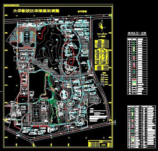学校校园园林景观设计cad平面图