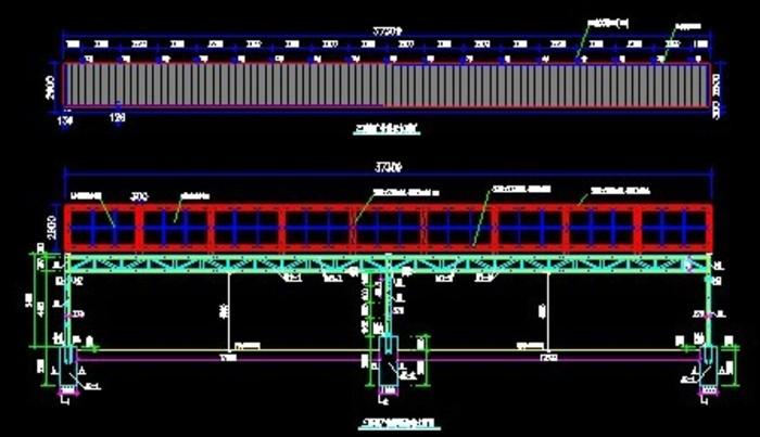 某高铁限高架及三面翻广告牌钢结构施工图纸.