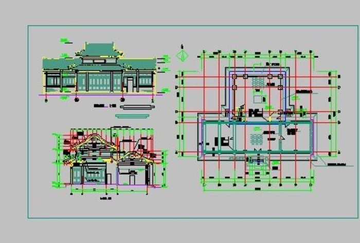 现代仿古建筑施工图纸 某地一层框架结构独立基础仿古建筑结构施工图