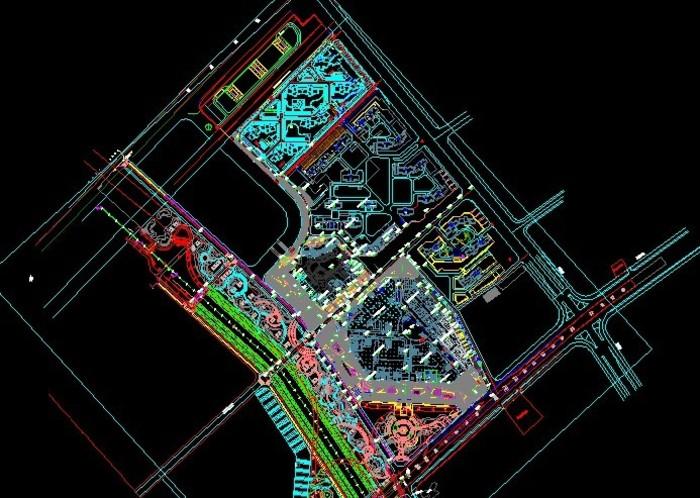 商业地产 建筑设计 商业地产建筑设计 商业广场设计平面图 商业广场ca图片