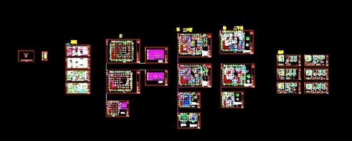 某地5层框架结构会所和售楼部建筑及结构施工图