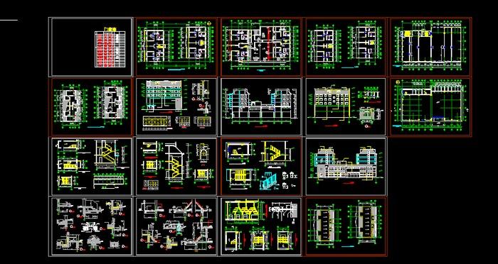 某地区16层酒店综合办公楼建筑设计平面图 三层办公楼(韩迅设计) 某