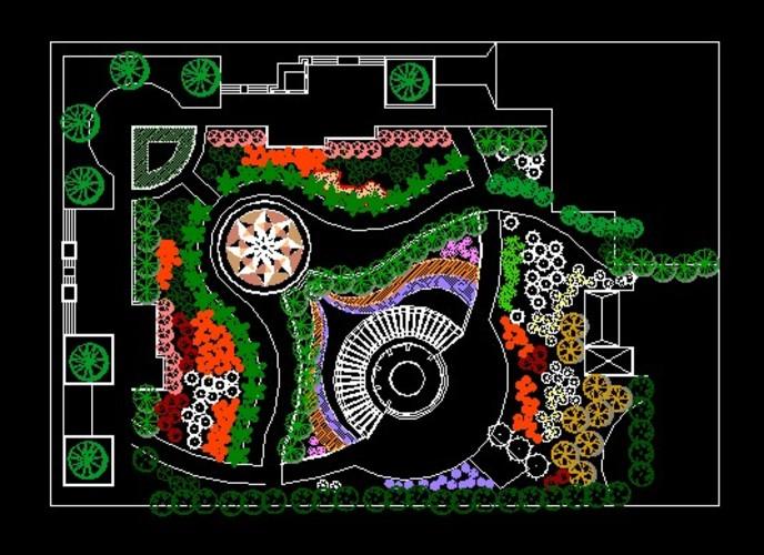 小游园景观设计图纸图片