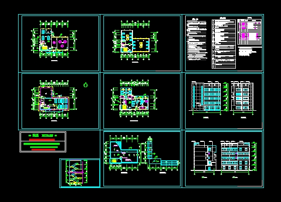 图纸 建筑图纸  商业建筑  餐厅设计  某宿舍餐厅施工图  某宿舍餐厅