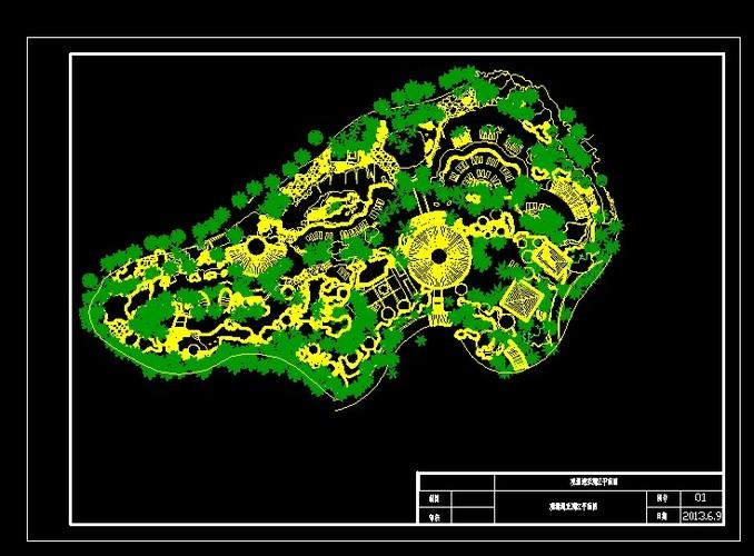 海口观澜湖亚洲区平面图(景观,绿化,水景)