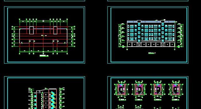 住宅单体平面,立面,剖面图(住宅平面图)  住宅单元楼设计方案