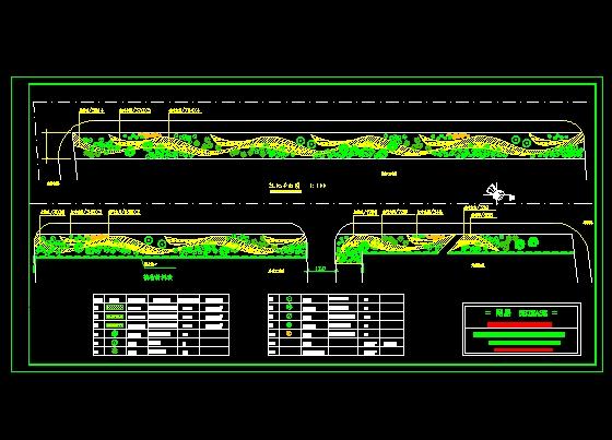 道路绿化平面图 道路绿化平面图cad 道路绿化带平面图 道路绿化设计