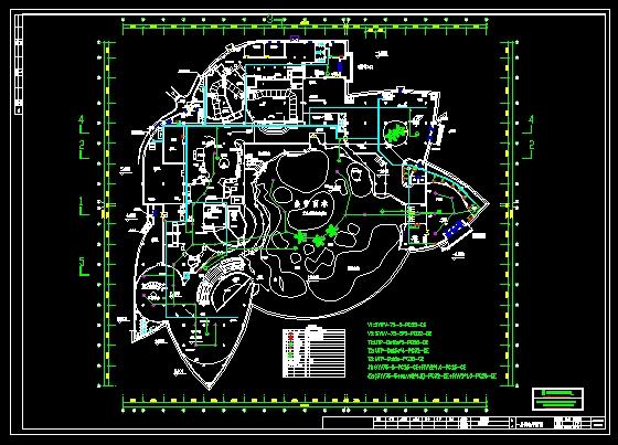 资料简介(某学校食堂弱电与风机配电平面图) 武汉极地海洋世界海洋馆