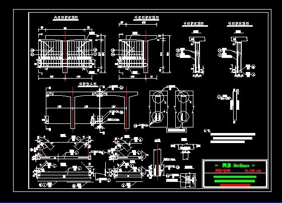 20米跨度梁桥设计图_cad图纸下载-土木在线
