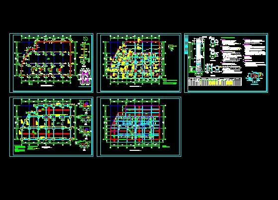 860柱平法施工图,一层梁平法施工图,桩身大样,护壁大样,一层板平面