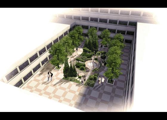楼间空地景观设计效果图