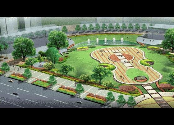 小型广场景观效果图