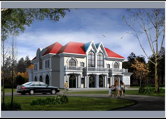 二层别墅效果图高清图片