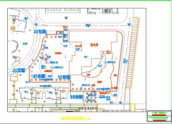 施工平面布置图图例;; 幼儿园平面布置; 项目部临建图(平面布置图)