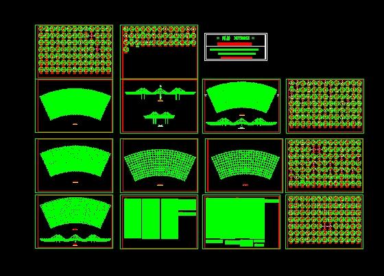挑棚网架结构施工图_cad图纸下载-土木在线