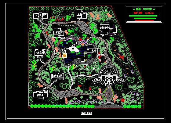 图纸 园林设计图 景观规划设计 公园及游园景观规划设计图 某休闲区