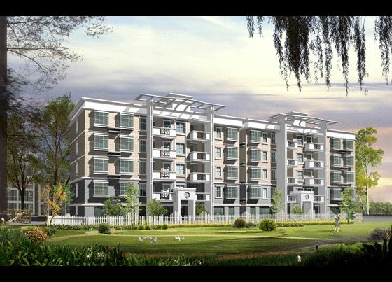 高层住宅楼效果图 小高层住宅楼效果图 复式住宅楼梯效果图 住宅楼