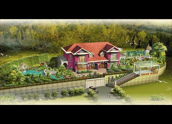 图纸 园林设计图 园林景观效果图 园林景观鸟瞰图 私家别墅庭院环境