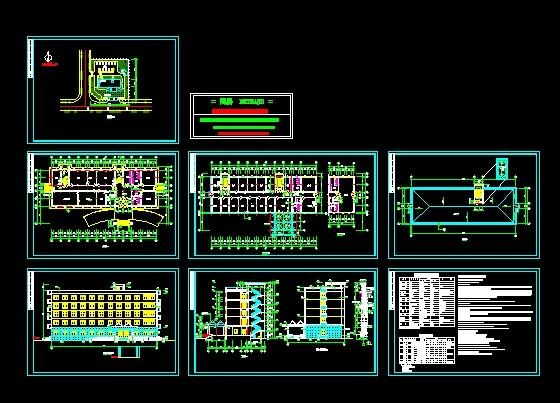 五层办公楼建筑施工图