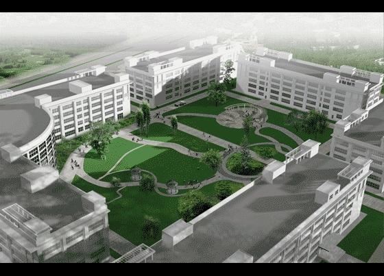 厂房中庭景观设计效果图