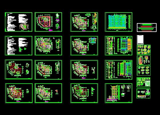 施工图包括图纸目录,总平面图,设计说明,交通核心筒平面详图,地下一