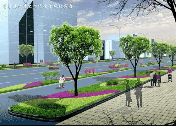 (560x403); 名称:室内手绘效果图; 道路绿化
