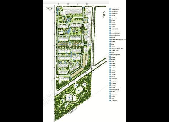 北京荔景园景观设计手绘图全套及绿化规划总平面图