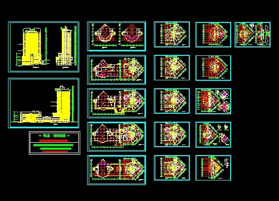 某酒店建筑方案图-图1